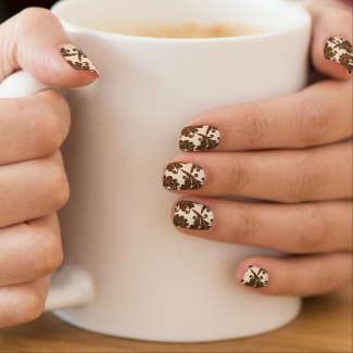 Victorian Coffee/Cream Pattern Minx Nail Wrap
