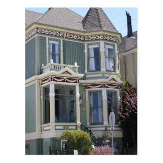 Victorian House in San Francisco Post Card
