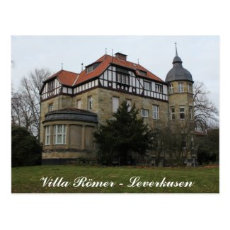 """Villa Römer"" Mansion in Leverkusen Postcard"