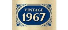 vintage 1967 blue 50th birthday greeting card - 50th Birthday Wishes