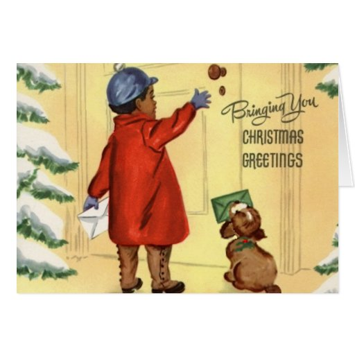 Vintage African American Christmas Card Zazzle