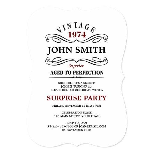 personalized surprise 40th birthday party invitations custominvitations4u com