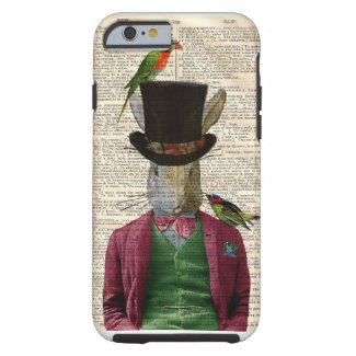 Vintage Altered Art Rabbit Book Page iPhone 6 case