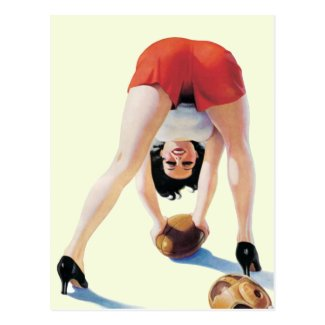 Vintage pin-up American football Poster Postcards
