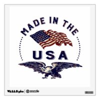 Made In Usa Wall Decals & Wall Stickers | Zazzle