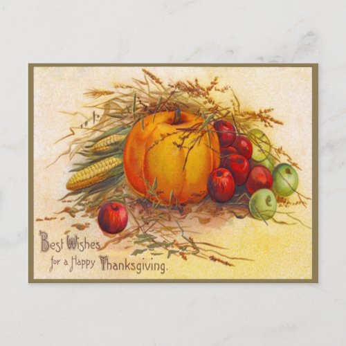 Vintage and Beautiful Thanksgiving Holiday Postcard