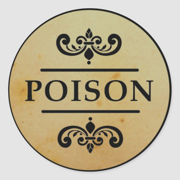 Vintage Apothecary Poison Halloween Stickers Label Zazzle