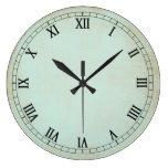 Vintage Aqua Cream Wall Clock