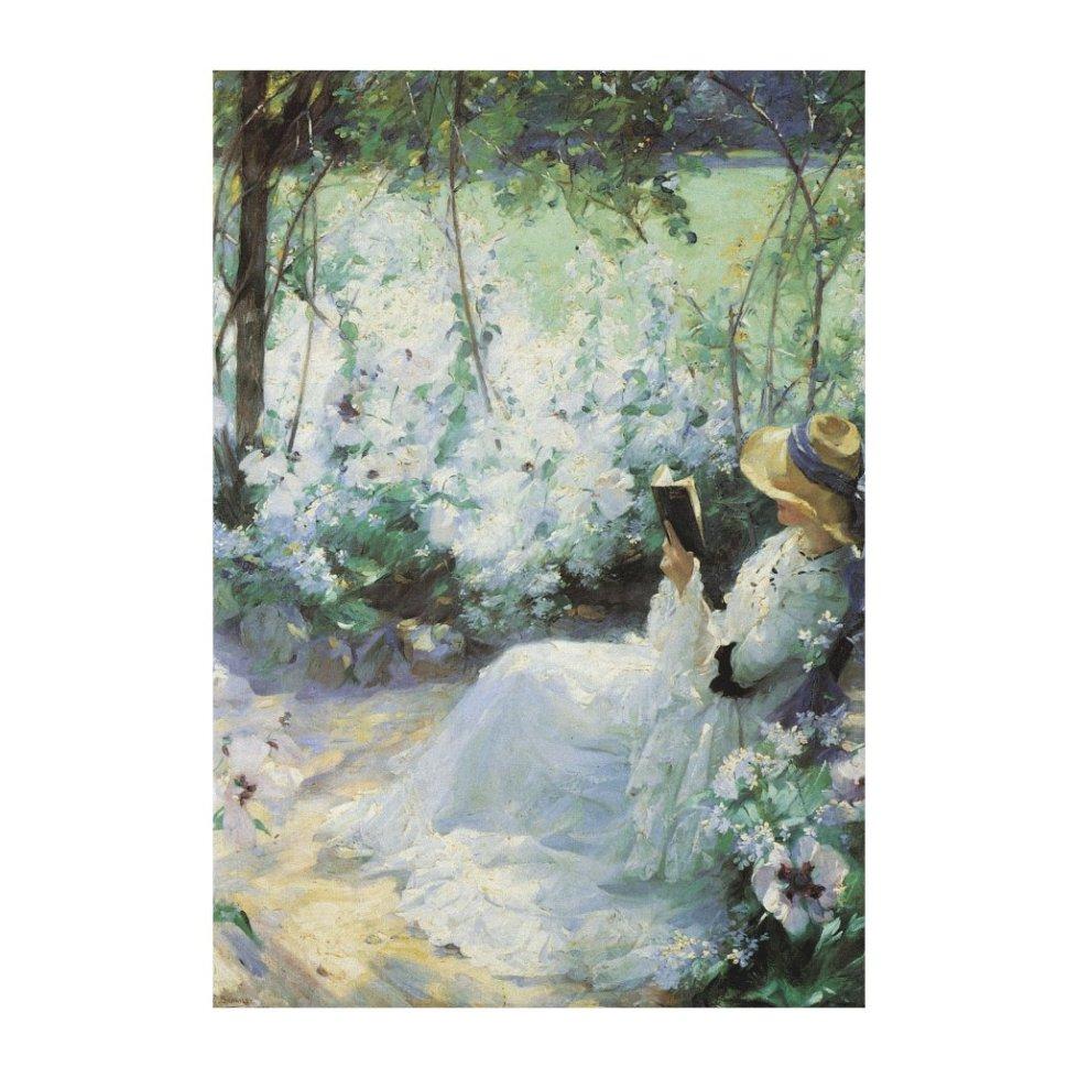 Vintage Art, Delicious Solitude by Frank Bramley Canvas Print