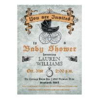 Vintage Baby Shower Invitation