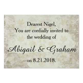 Vintage Background Wedding Invitation