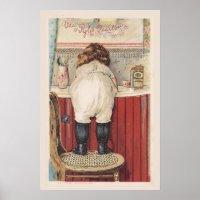 Vintage Bathroom Wall Art | Zazzle.com
