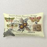 Vintage Bee Collage Lumbar Pillow
