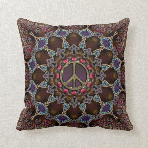 Golden Peace Earth Tribal Batik Cushions