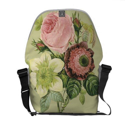 Vintage Botanical Flowers rickshawmessengerbag