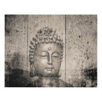 Vintage Buddha Yoga Panel Wall Art | Zazzle