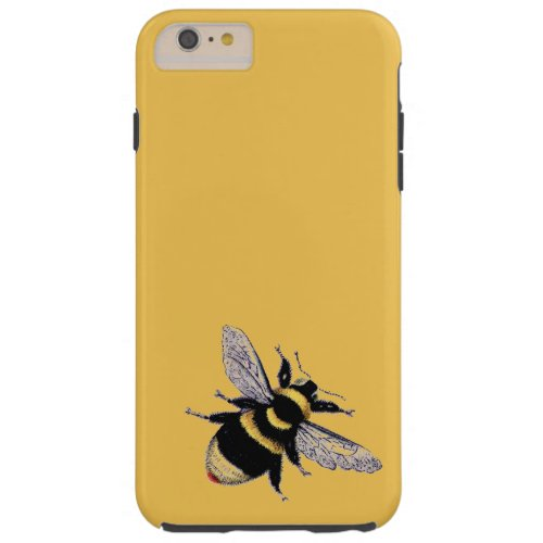Vintage Bumble Bee Tough iPhone 6 Plus Case