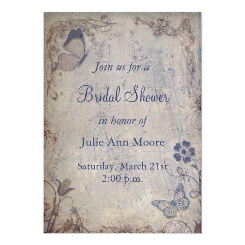 Vintage Butterflies Invitation