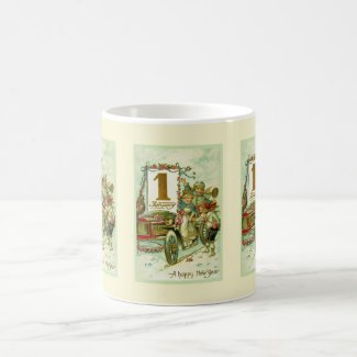 Vintage Carriage for New Year Mug