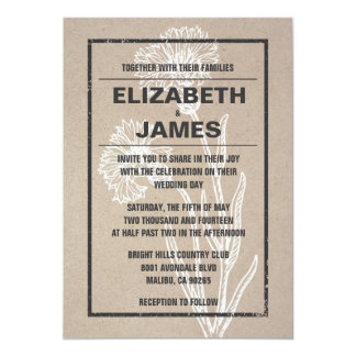 Vintage Casual Wedding Invitations