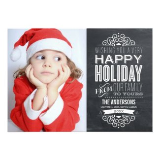VINTAGE CHALKBOARD | HOLIDAY PHOTOCARD PERSONALIZED ANNOUNCEMENT Template