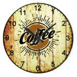 Vintage coffee large clock
