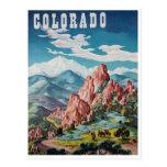 Vintage Colorado mountains Postcard
