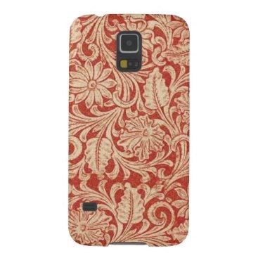Vintage Damask Floral Red Samsung Galaxy Nexus Case For Galaxy S5