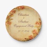 Vintage Roses Plates & Vintage Roses Plate Designs   Zazzle