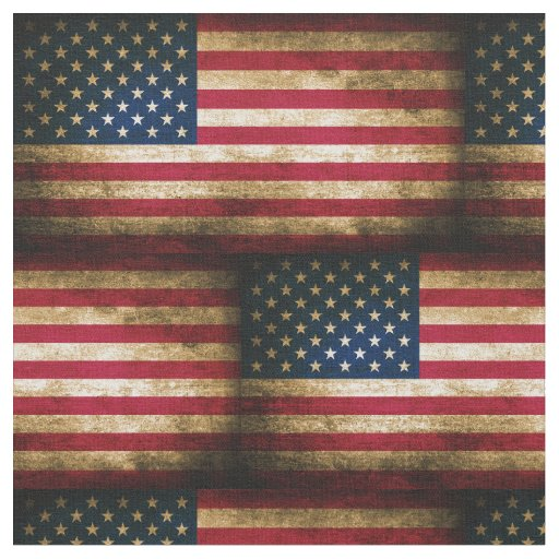 Vintage Distressed American Flag Fabric Zazzle