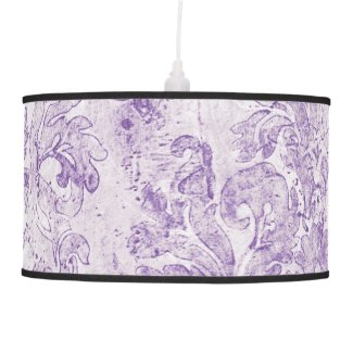Vintage elegant velvet old lavender cafe pattern table lamp