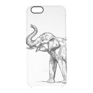 case drawing iphone simple clear trendy 6s elephant plus