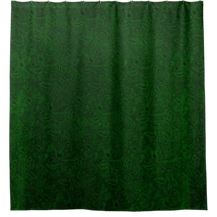 vintage floral forest emerald green shower curtain zazzle com