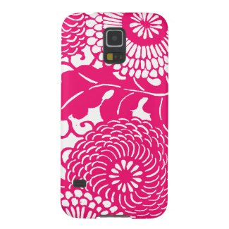 Vintage floral pattern, change color of background galaxy s5 covers