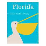 Vintage Florida Pelican travel poster Postcard