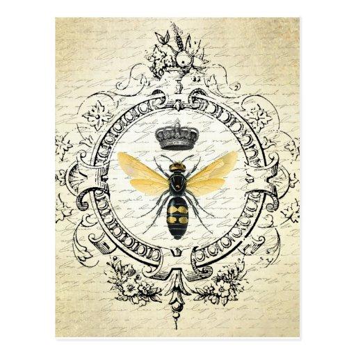 Vintage French Bee Postcard Zazzle