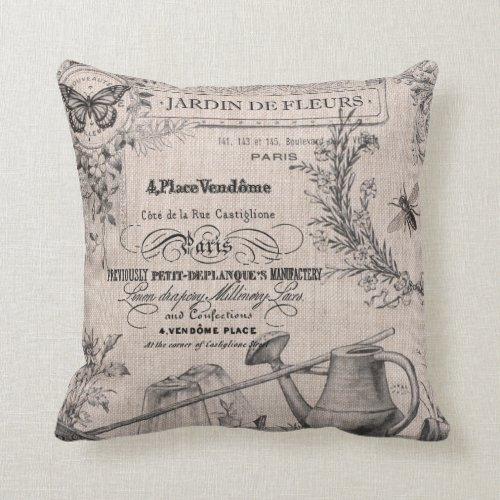 Vintage French Garden pillow