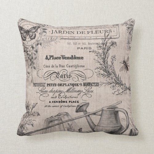 Vintage French Garden pillow