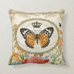 ❤️  Vintage French Shabby Chic  Butterfly pillow