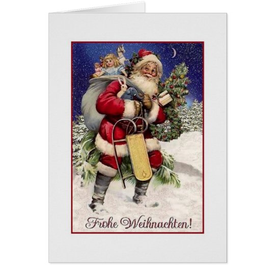 Vintage German Frohe Weihnachten Christmas Card Zazzle