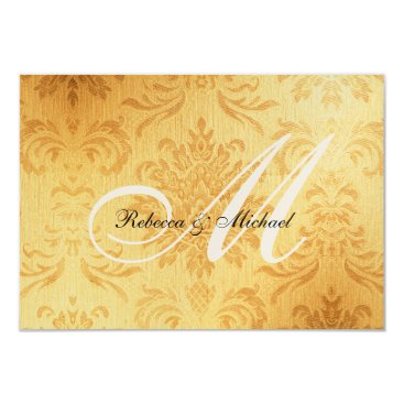 Vintage Gold Monogram RSVP Card