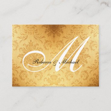 Vintage Gold Monogram RSVP Card