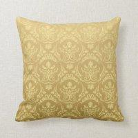 Vintage Gold Throw Pillows | Zazzle