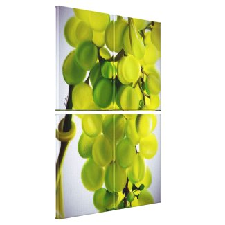 Vintage Grapes Premium Wrapped Canvas (Quad)