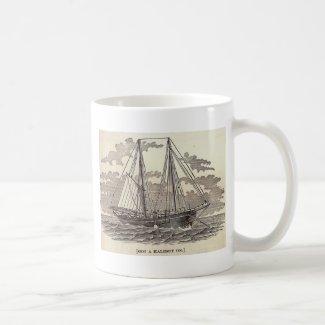 Vintage Halibut Schooner Mug