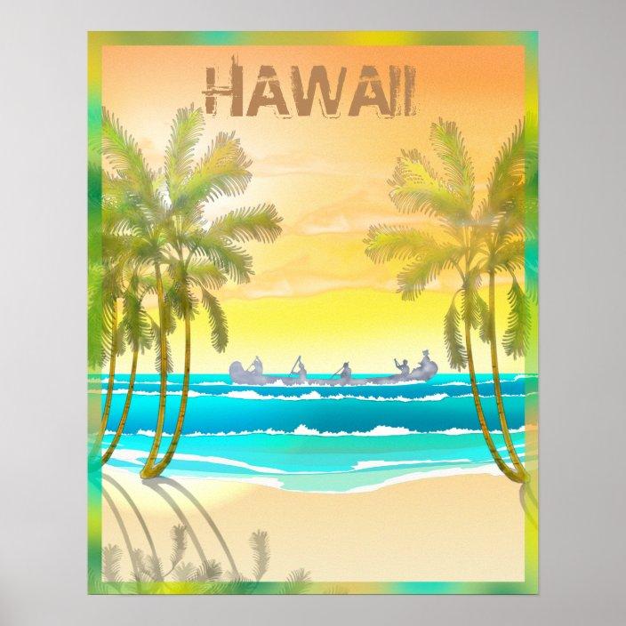 vintage hawaii travel poster zazzle com