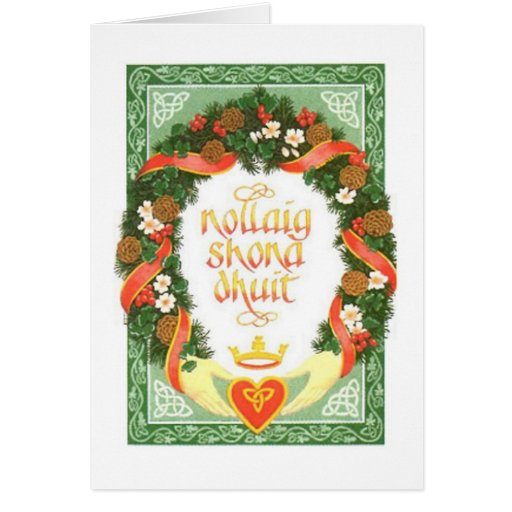 Vintage Irish Christmas Card Zazzle