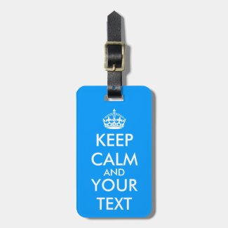 Vintage KeepCalm luggage label | Blue travel tags Luggage Tags