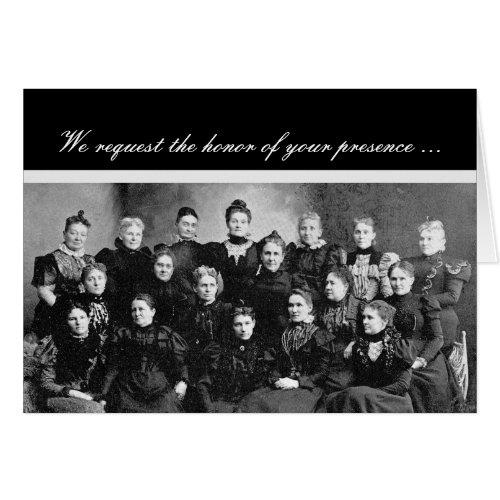 Vintage Ladies' Group Invitation Humor Greeting Card