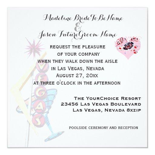 Wedding Invitation Ideas Stin Up Vine Las Vegas Sign Zazzle